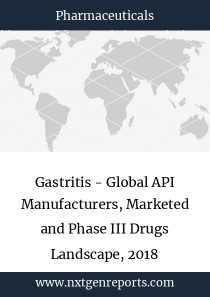 Gastritis - Global API Manufacturers, Marketed and Phase III Drugs Landscape, 2018
