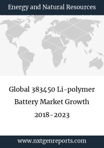 Global 383450 Li-polymer Battery Market Growth 2018-2023