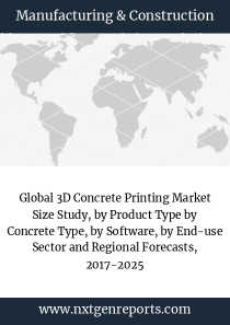 Global 3D Concrete Printing Market Size Study, by Product Type by Concrete Type, by Software, by End-use Sector and Regional Forecasts, 2017-2025