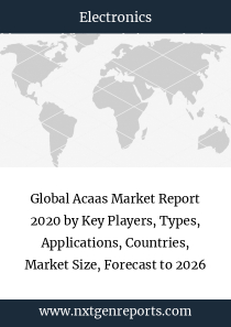 Global Acaas Market Report 2020 by Key Players, Types, Applications, Countries, Market Size, Forecast to 2026