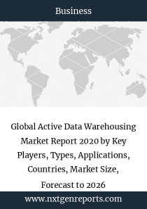 Global Active Data Warehousing Market Report 2020 by Key Players, Types, Applications, Countries, Market Size, Forecast to 2026