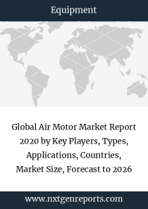 Global Air Motor Market Report 2020 by Key Players, Types, Applications, Countries, Market Size, Forecast to 2026