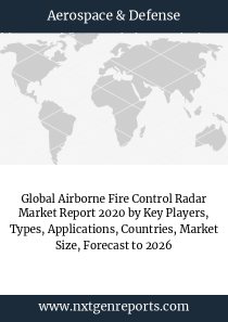 Global Airborne Fire Control Radar Market Report 2020 by Key Players, Types, Applications, Countries, Market Size, Forecast to 2026