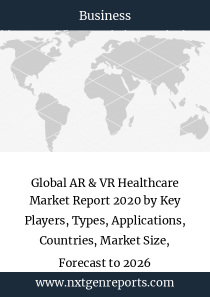 Global AR & VR Healthcare Market Report 2020 by Key Players, Types, Applications, Countries, Market Size, Forecast to 2026