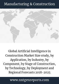 Global Artificial Intelligence in Construction Market Size study, by Application, by Industry, by Component, by Stage of Construction, by Technology, by Deployment and Regional Forecasts 2018-2025