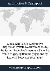 Global Asia Pacific Automotive Suspension Systems Market Size study, By System Type, By Component Type, By Vehicle Type, By Damping Type and by Regional Forecasts 2017-2025.