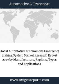 Global Automotive Autonomous Emergency Braking System Market Research Report 2019 by Manufacturers, Regions, Types and Applications