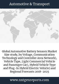 Global Automotive Battery Sensors Market Size study, by Voltage, Communication Technology and Controller Area Network), Vehicle Type, Light Commercial Vehicle and Passenger Car), Hybrid Vehicle Type and Plug-In Hybrid Electric Vehicle) and Regional Forecasts 2018-2025