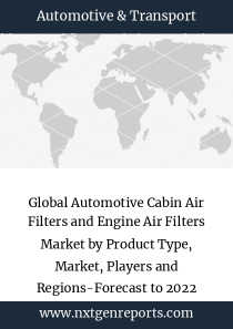Global Automotive Cabin Air Filters and Engine Air Filters Market by Product Type, Market, Players and Regions-Forecast to 2022