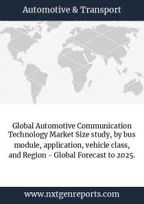 Global Automotive Communication Technology Market Size study, by bus module, application, vehicle class, and Region - Global Forecast to 2025.