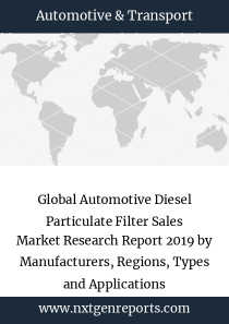 Global Automotive Diesel Particulate Filter Sales Market Research Report 2019 by Manufacturers, Regions, Types and Applications
