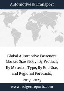 Global Automotive Fasteners Market Size Study, By Product, By Material, Type, By End Use, and Regional Forecasts, 2017-2025