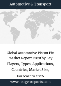 Global Automotive Piston Pin Market Report 2020 by Key Players, Types, Applications, Countries, Market Size, Forecast to 2026