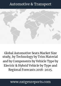 Global Automotive Seats Market Size study, by Technology by Trim Material  and by Components by Vehicle Type by Electric & Hybrid Vehicle by Type and Regional Forecasts 2018-2025.