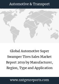 Global Automotive Super Swamper Tires Sales Market Report 2019 by Manufacturer, Region, Type and Application