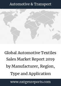 Global Automotive Textiles Sales Market Report 2019 by Manufacturer, Region, Type and Application