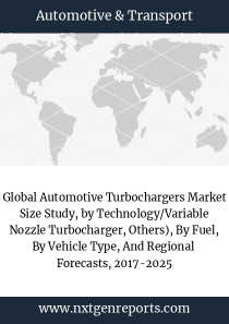 Global Automotive Turbochargers Market Size Study, by Technology/Variable Nozzle Turbocharger, Others), By Fuel, By Vehicle Type, And Regional  Forecasts, 2017-2025