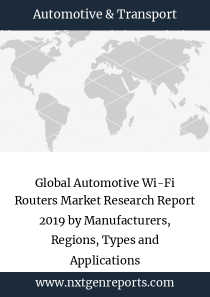 Global Automotive Wi-Fi Routers Market Research Report 2019 by Manufacturers, Regions, Types and Applications