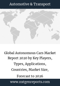 Global Autonomous Cars Market Report 2020 by Key Players, Types, Applications, Countries, Market Size, Forecast to 2026