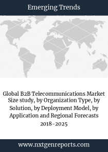 Global B2B Telecommunications Market Size study, by Organization Type, by Solution, by Deployment Model, by Application and Regional Forecasts 2018-2025