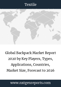 Global Backpack Market Report 2020 by Key Players, Types, Applications, Countries, Market Size, Forecast to 2026