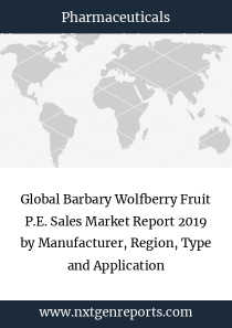 Global Barbary Wolfberry Fruit P.E. Sales Market Report 2019 by Manufacturer, Region, Type and Application