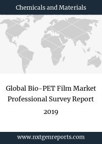Global Bio-PET Film Market Professional Survey Report 2019