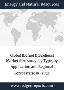 Global Biofuel & Biodiesel Market Size study, by Type, by Application and Regional Forecasts 2018-2025