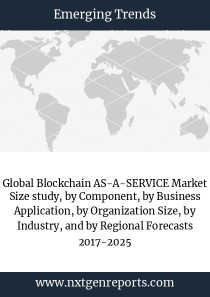 Global Blockchain AS-A-SERVICE Market Size study, by Component, by Business Application, by Organization Size, by Industry, and by Regional Forecasts 2017-2025