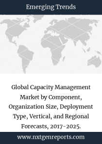 Global Capacity Management Market by Component, Organization Size, Deployment Type, Vertical, and Regional Forecasts, 2017-2025.