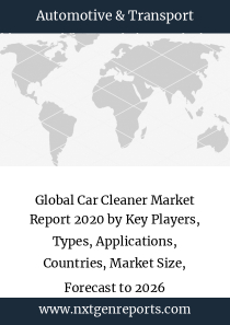 Global Car Cleaner Market Report 2020 by Key Players, Types, Applications, Countries, Market Size, Forecast to 2026