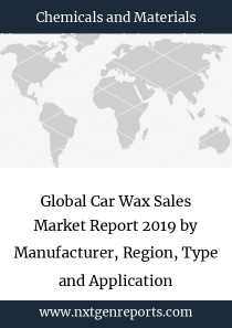 Global Car Wax Sales Market Report 2019 by Manufacturer, Region, Type and Application