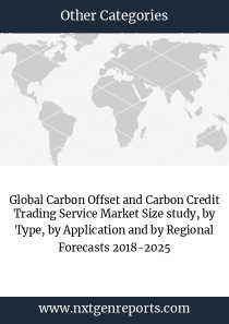 Global Carbon Offset and Carbon Credit Trading Service Market Size study, by Type, by Application and by Regional Forecasts 2018-2025
