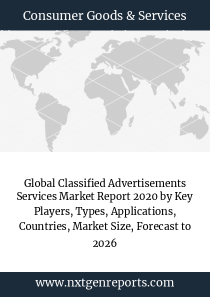 Global Classified Advertisements Services Market Report 2020 by Key Players, Types, Applications, Countries, Market Size, Forecast to 2026