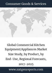 Global Commercial Kitchen Equipment/Appliances Market Size Study, by Product, by End-Use, Regional Forecasts, 2017-2025