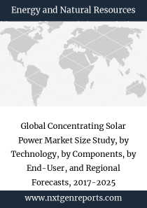 Global Concentrating Solar Power Market Size Study, by Technology, by Components, by End-User, and Regional Forecasts, 2017-2025