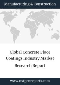 Global Concrete Floor Coatings Industry Market Research Report