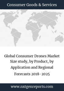 Global Consumer Drones Market Size study, by Product, by Application and Regional Forecasts 2018-2025