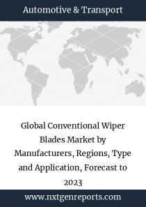 Global Conventional Wiper Blades Market by Manufacturers, Regions, Type and Application, Forecast to 2023