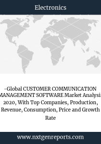 -Global CUSTOMER COMMUNICATION MANAGEMENT SOFTWARE Market Analysis 2020, With Top Companies, Production, Revenue, Consumption, Price and Growth Rate