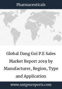 Global Dang Gui P.E Sales Market Report 2019 by Manufacturer, Region, Type and Application