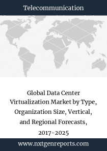 Global Data Center Virtualization Market by Type, Organization Size, Vertical, and Regional Forecasts, 2017-2025