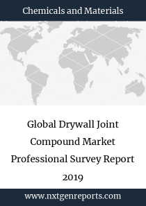 Global Drywall Joint Compound Market Professional Survey Report 2019