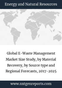 Global E-Waste Management Market Size Study, by Material Recovery, by Source type and Regional Forecasts, 2017-2025