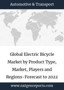 Global Electric Bicycle Market by Product Type, Market, Players and Regions-Forecast to 2022