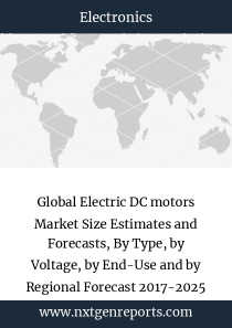 Global Electric DC motors Market Size Estimates and Forecasts, By Type, by Voltage, by End-Use and by Regional Forecast 2017-2025