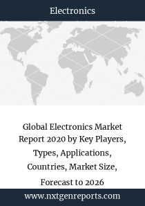 Global Electronics Market Report 2020 by Key Players, Types, Applications, Countries, Market Size, Forecast to 2026