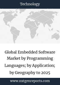 Global Embedded Software Market by Programming Languages; by Application; by Geography to 2025