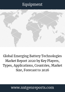 Global Emerging Battery Technologies Market Report 2020 by Key Players, Types, Applications, Countries, Market Size, Forecast to 2026