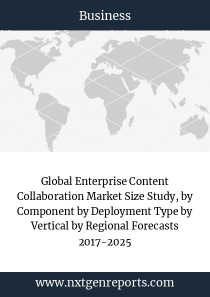 Global Enterprise Content Collaboration Market Size Study, by Component by Deployment Type by Vertical by Regional Forecasts 2017-2025